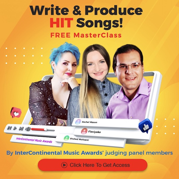 InterContinental Music Awards, Write & Produce HIT Songs masterclass, flyer